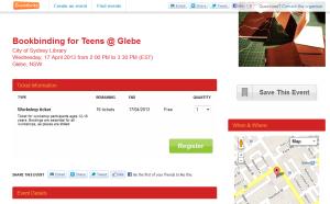 bookbinding for teens glebe
